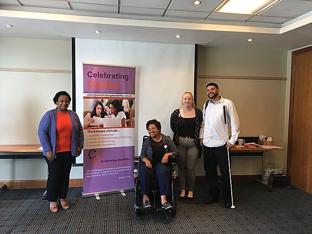 people at a Celebrating Disability training session